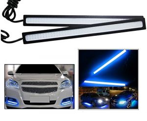 Autoright Daytime Running Lights Cob LED Drl (blue) For Tata Safari