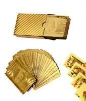 Cm Treder Poker Playing Cards Gold Plated