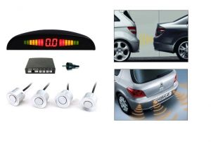 Autoright Reverse Car Parking Sensor LED Display White Ford Figo