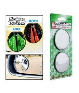 Mirrors for cars - AutoRight-Car Blind Spot Convex Rear View Mirror Chrome Corners For Maruti Suzuki Omni