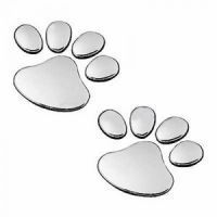Soonai Foot Mark Silver Car Sticker Lucky Charm