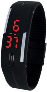 Rinoto Silicone Wrist Watch Men & Women_rinoto LED Band Black 01