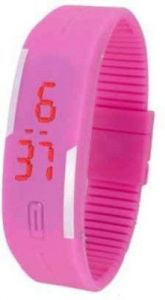 Rinoto Silicone Wrist Watch Men & Women_rinoto LED Bnad Pink 202