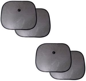 Autoright Car Window Sun Mesh (set Of 4) Sun Shade (side Window)