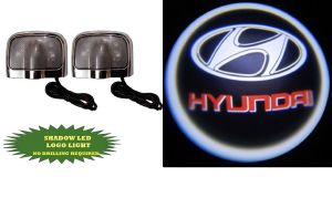 Autoright Stick On Car Door Ghost Shadow LED Light (set Of 2) Hyundai Logo