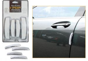 Autoright-ipop Car Door Guard Set Of 4 PCs White For Toyota Fortuner