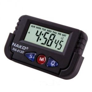 Nako Digital LCD Alarm Table Desk Car Calendar Clock Timer Stopwatch