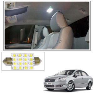 Car Lamps, Horns - AutoRight 16 SMD LED Roof Light White Dome Light for Fiat Linea New