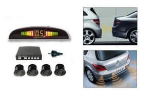 Autoright Reverse Car Parking Sensor LED Display Black Honda City