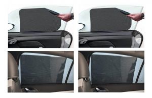 Autoright Universal Car Window Water Mesh Screen Sunshade Curtain - Window Curtain Set Of 4 For Mahindra Kuv100