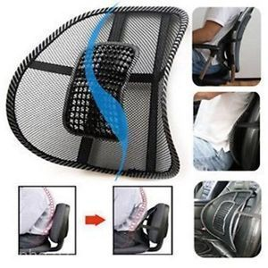 Dh 2x Office Chair Car Seat Massage Mesh Lumbar Back Support Ventilate Cush