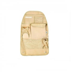 Autoright Car Back Seats Pockets Organiser / Multi-pocket Hanging Organiser Beige For Tata V2 Turbo