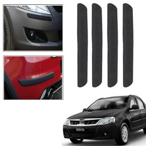 Autoright Car Bumper Guard Protector Color Black For Mahindra Verito
