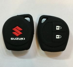 Key covers for cars and bikes - AutoRight Car Remote Key Cover Silicone Black For Suzuki 2 Button Sx4 (black)