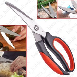Multifunction Stainless Steel Kitchen Scissors Poultry Shears Professional Heavy Duty Poultry Shears Fish Chicken Bone Scissors-09