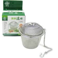 """m.v. Trading Co. New Twist-lock Spice Ball Tea Infuser Herb Infuser, Stainless Steel, Extra Large Size (4 U0152 X 3 U0153"")"""""""