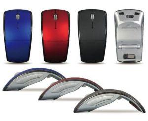 Mouse - Home Basics 2.4 Ghz Folding Arc Wireless Mouse