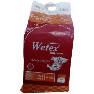 Sanitary Napkins - Wetex Adult Diaper - Extra Large Size (Pieces Of 10)