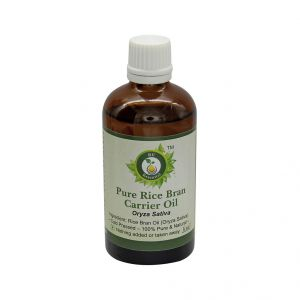 R V Essential Pure Rice Bran Carrier Oil 100ml- Oryza Sativa