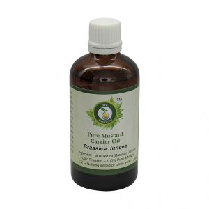 Mustard oil - R V Essential PureMustardCarrier Oil 100ml- Brassica Juncea