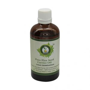 R V Essential Pure Flax Seed Carrier Oil 100ml-linum Usitatissimum