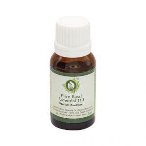 Cooking Oils (Misc) - R V Essential Pure Basil Essential Oil 15ml- Ocimum Basilicum