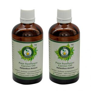 R V Essential Pure Sunflower Carrier Oil (100ml+100ml) Pack Of Two- Helianthusannuus