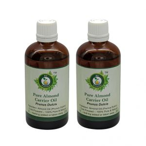 R V Essential Pure Almond Carrier Oil (100ml+100ml) Pack Of Two- Prunus Dulcis