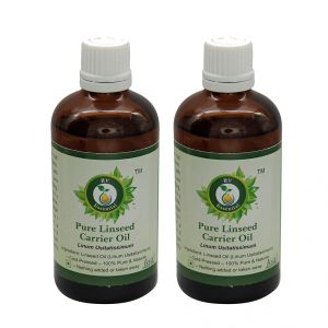 R V Essential Pure Linseed Carrier Oil (100ml+100ml) Pack Of Two- Linum Usitatissimum