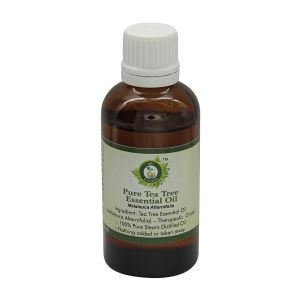 Cooking Oil, Oil Sprays - R V Essential Pure Tea Tree Essential Oil 50ml- Melaleuca Alternifolia