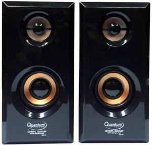 Multimedia Speakers - QUANTUM QHM630 WOODEN SPEAKER - BLACK