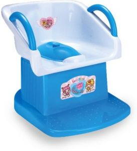 Harry & Honey Baby Potty Seat With Handles - Blue With Key Ring