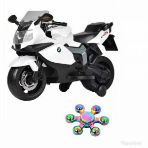 Bikes - WHEEL POWER BABY BMW BIKE 283 WHITE (12 VOLT) WITH FIDGET