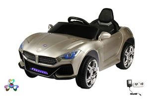 Wheel Power Baby Battery Operated Ride On Bmw Car Grey Free Fidget