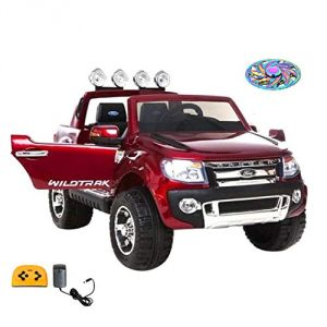 Wheel Power Baby Battery Operated Ride On Ford Ranger Metallic Finish Car Red Free Fidget
