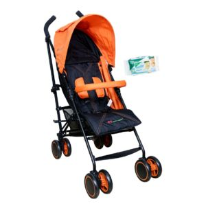 Harry & Honey Baby Solo Pram Orange Free Wipes