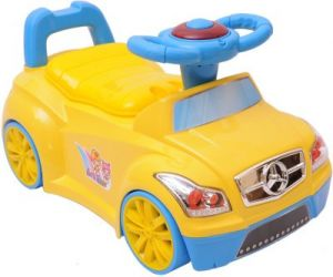 Harry & Honey Toy Car Cum Potty Seat Yellow With Key Ring