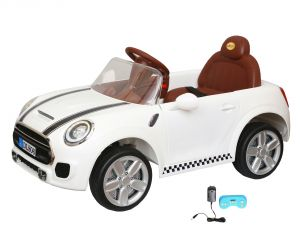 Wheel Power Baby Battery Operated Ride On Mini Cooper White Car - ( Code - Dls06-white )