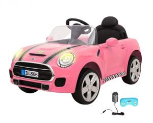 Wheel Power Baby Battery Operated Ride On Mini Cooper Pink Car - ( Code - Dls06-pink )