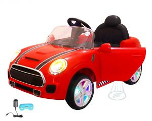 Wheel Power Baby Battery Operated Ride On Mini Cooper Red Car