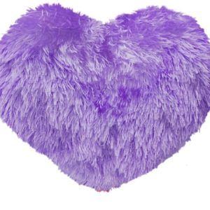 Harry & Honey Little Heart Purple Cushion (10 Inches)