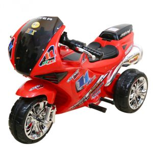 Wheel Power Battery Operated Toys - WHEEL POWER BABY BATTERY OPERATED RIDE ON BIKE 2131 RED
