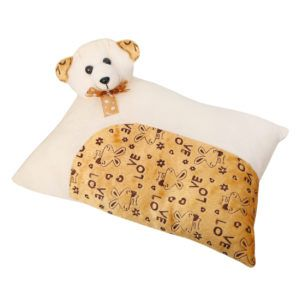 Harry & Honey Rectangular Feathery Soft Baby Pillow Offwhite-brown