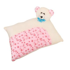 Harry & Honey Rectangular Feathery Soft Baby Pillow Offwhite-pink