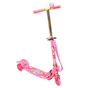Wheel Power Three Wheel Scooter Pink With Key Ring