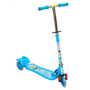 Wheel Power Wide Foot Board Baby Scooter Blue With Key Chain