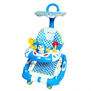 Harry & Honey Baby Musical Walker Cum Rocker Blue With Key Ring