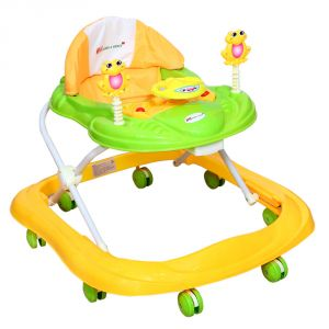 Harry & Honey Baby Musical Walker Yellow-green With Key Ring