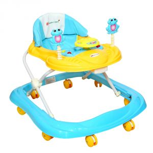 Prams & strollers - HARRY & HONEY BABY MUSICAL WALKER BLUE WITH KEY RING