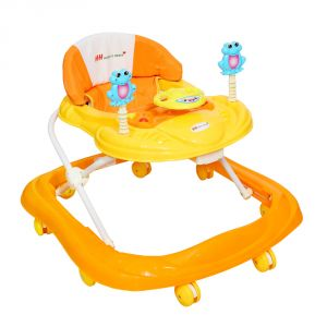 Walkers - HARRY & HONEY BABY MUSICAL WALKER ORANGE WITH KEY RING